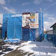 富士吉田市新西原 U.H様邸工事状況です。