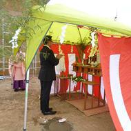 西桂町倉見W.Y様邸 地鎮祭でした!