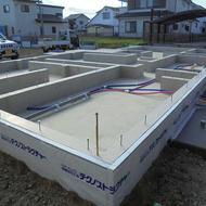 笛吹市石和町井戸 S.M様邸基礎工事完了です。