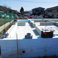 富士吉田市旭一丁目W.T様邸基礎工事完了です。