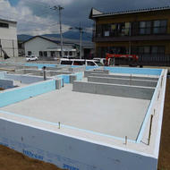 富士吉田市上吉田東三丁目T.Y様邸基礎工事完了です。
