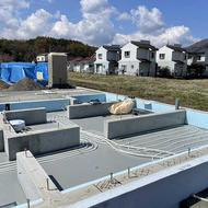 富士河口湖町勝山O.H様邸基礎暖房工事です。