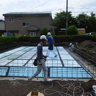 富士吉田市松山I.K様邸工事状況です。