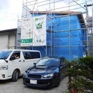 富士吉田市松山I.K様邸上棟です。